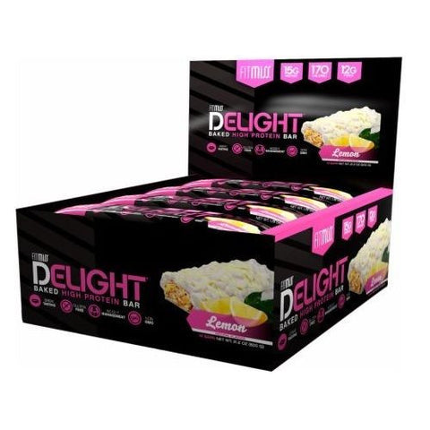 FitMiss Delight Protein Bars Weight Management Gluten Free BOX OF 12