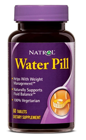 Natrol WATER PILL Weight Loss Shed Water Weight 60 Tablets DIURETIC