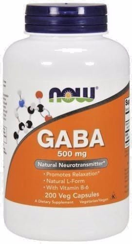 Now Foods GABA with Vitamin B-6 500 mg - 200 caps - Calm & Relax RELIEVE STRESS