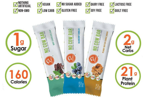 D's Naturals NO COW Bar World's Healthiest Protein Bars 12/BOX - TRY NEW FLAVORS