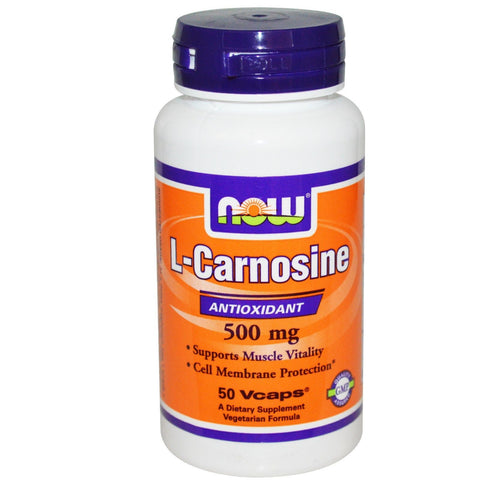 Now Foods  L-CARNOSINE 500mg - 50 vcaps ANITIOXIDANT MUSCLE SUPPORT Amino Acids