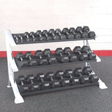 Body Solid SDKR1000 3-Tier Gym Modular Dumbbell, Medicine Ball, Kettlebell Rack