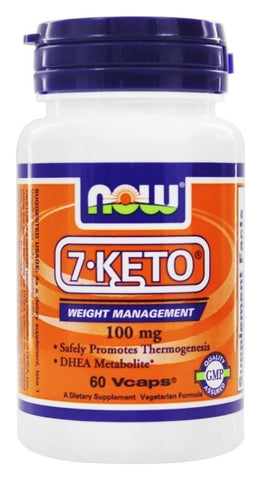 NOW Foods 7-Keto DHEA 100 mg - 60 vcaps BURN FAT Weight Loss