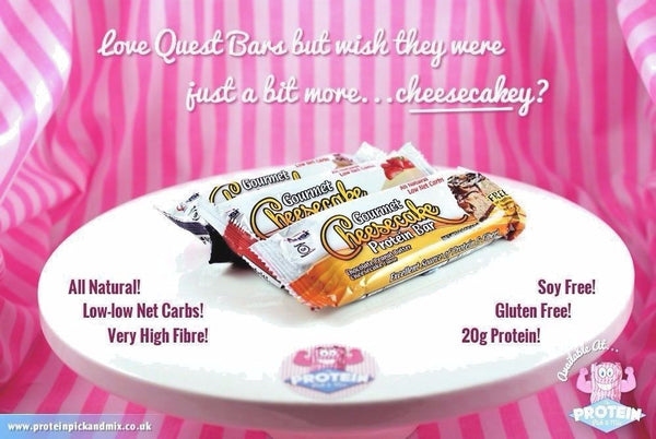 ANSI GOURMENT CHEESECAKE Protein Bar 12 Bars/Bx FOR YOUR HEALTHY QUEST 6 FLAVORS