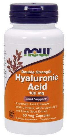 NOW Foods Hyaluronic Acid 100mg Joint Support Alpha Lipoic 60 Veg Capsules