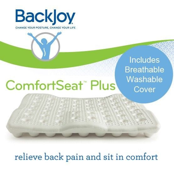 BackJoy ComfortSeat Seat Cushion Improve Posture, RELIEVE PRESSURE & BACK PAIN