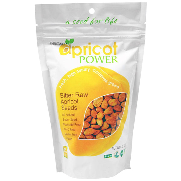 Apricot Power Bitter Raw Apricot Kernels Seeds - 8 oz B-17 AMYGDALIN SUPER SEED