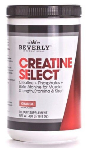 Beverly International Creatine Select + Phosphates Beta Alanine ORANGE 40 Serves BUILD MUSCLE