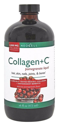 NeoCell Collagen + C Pomegranate Liquid 4000 mg- 16 oz SKIN, HAIR, NAILS, JOINTS