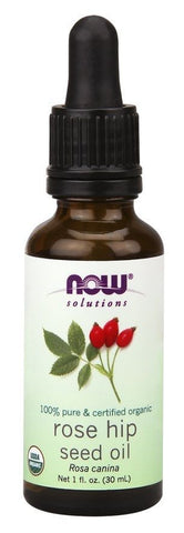 Now Foods 100% Pure Organic ROSE HIP Seed Oil - 1 oz (30 ml) - SKIN RENEWAL