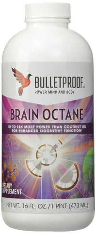 Bulletproof BRAIN OCTANE OIL 16 oz BUILD MUSCLE BURN FAT Bullet Proof Coffee MCT