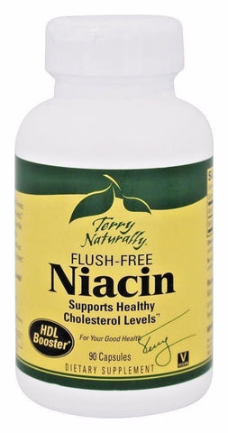 EuroPharma (Terry Naturally) NIACIN Flush-Free, 90 caps HDL, CHOLESTEROL HEALTH