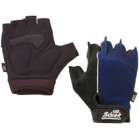 "Schiek CYCLING ""GEL"" GLOVES Model 310 BLACK & BLUE Fins for Easy Removal"
