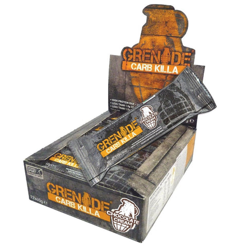 Grenade CARB KILLA Low Carb Protein Bars CHOCOLATE CREAM Box of 12 Bars