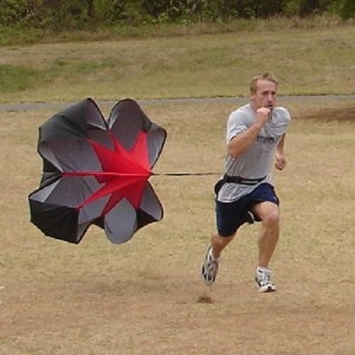 "48"" SPEED CHUTE Parachute Power Running Resistance Training Track & Field"