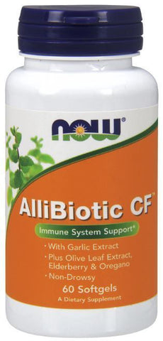 NOW Foods AlliBiotic CF Non-Drowsy Immune Support Elderberry 60 Softgels