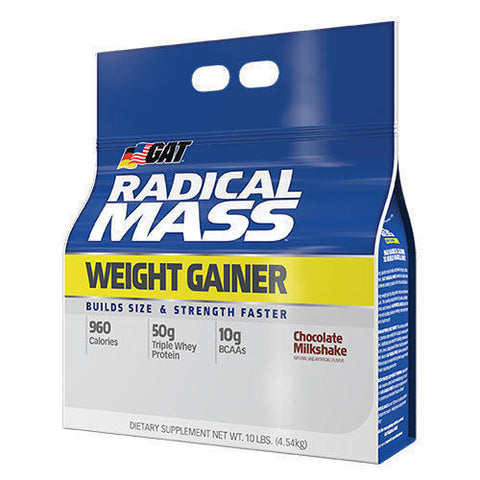 GAT RADICAL MASS 10 lb Premium Weight Gainer 18 Servings