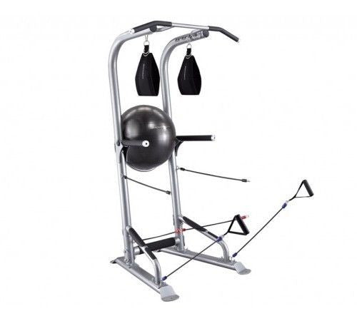 BodyCraft T3 Total Body Exercise Training Gym Tower + Ball AB STRAPS Power Bands