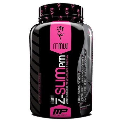 FitMiss Z-SLIM PM Nighttime FAT BURNER & SLEEP AID 5HTP Valerian - 60 caps ZSLIM