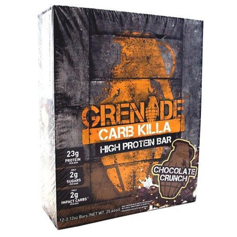 Grenade CARB KILLA Low Carb Protein Bars CHOCOLATE CRUNCH Box of 12 Bars