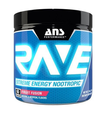 ANS Performance RAVE Pre-Workout Energy Nootropic Focus 60 Servings