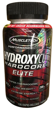 MuscleTech Hydroxycut Hardcore Elite Thermogenic Fat Burner 100 capsules