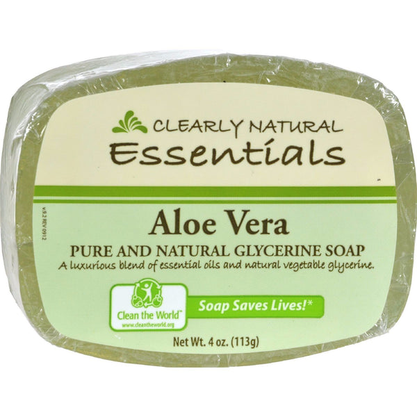 Clearly Natural Glycerine Soap Bar Aloe Vera - 4 oz PURE & NATURAL