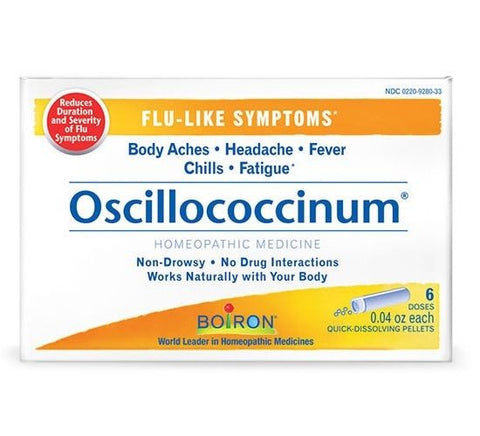 Boiron OSCILLOCOCCINUM Flu-Like Symptoms Body Aches Headache Fever 12 Doses