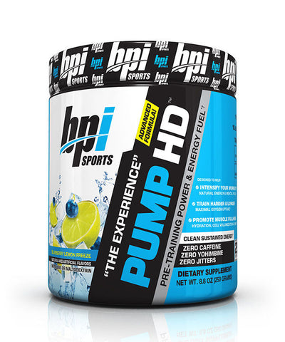 BPI Pump-HD Advanced Formula Pre Workout Non-Stim Powder - 25 Servings