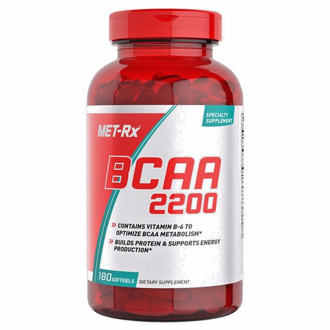 MET-Rx BCAA 2200 Branched Chain Amino Acid - 180 ct Protein Energy BUILD MUSCLE