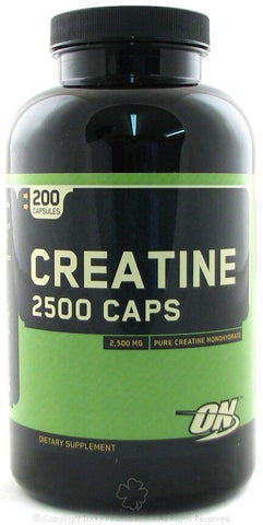 Optimum Nutrition CREATINE 2500 CAPS - 200 capsules ON CREAPURE MONOHYDRATE