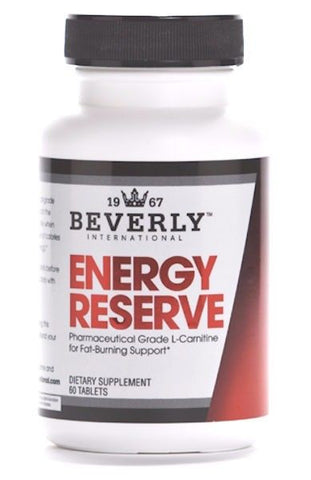 Beverly International ENERGY RESERVE L-Carnitine Fat Loss Cutting Diet PreWorkout BUILD MUSCLE