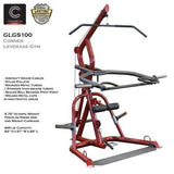 Body Solid GLGS100 Plate Loaded Leverage Corner Gym Weight Total Fitness Machine