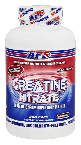 APS Nutrition CREATINE NITRATE Superior Patented Muscle Builder 200 Caps