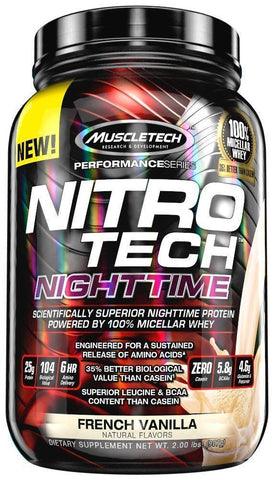 MuscleTech NITRO TECH NIGHT TIME Micellar Whey Protein 2 lbs