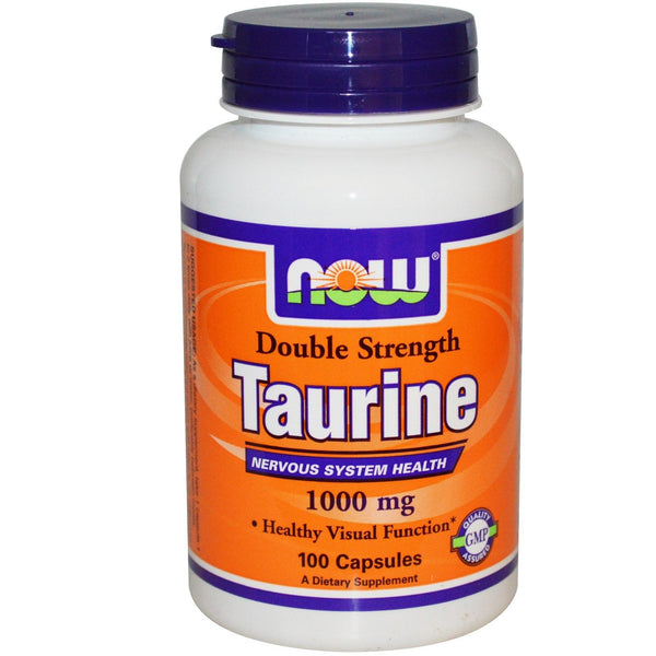 NOW Foods TAURINE Double Strength 1000 mg - 100 caps MOOD/NERVOUS SYSTEM SUPPORT