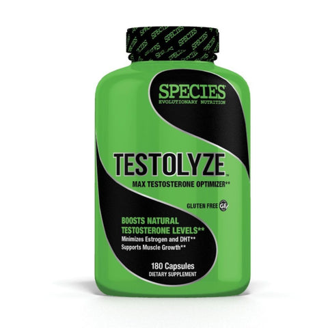 Species TESTOLYZE 180 Caps Test Boosting Support STRENGTH Manage Estrogen & DHT