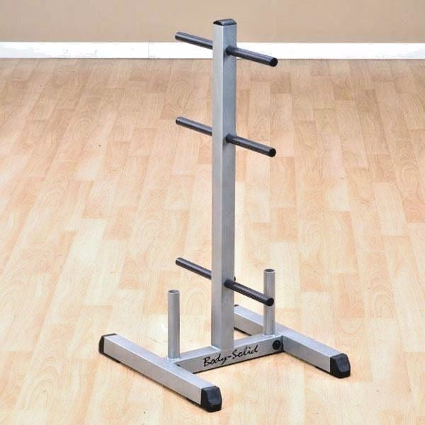 Body Solid Standard WEIGHT TREE Gym Rack Storage Plate Stand + Bar Holder GSWT