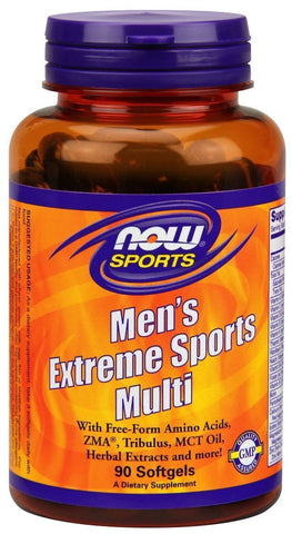 NOW Mens Extreme SPORTS MULTI Multivitamin Tribulus 90 Softgels MUSCLE VITAMINS