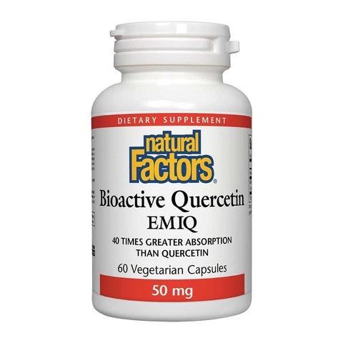 Natural Factors Bioactive Quercetin EMIQ 50mg - 60 caps