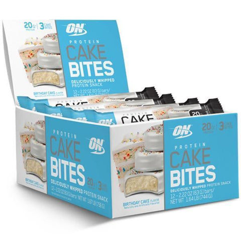 Optimum Nutrition CAKE BITES Protein 3-Piece Snacks Box of 12