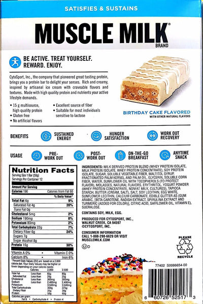 Cytosport Muscle Milk BLUE Protein Bar