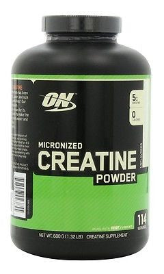 Optimum Nutrition Micronized CREATINE POWDER Unflavored 600g 120 Servings