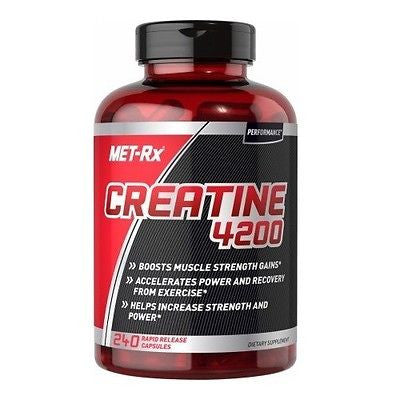 Met Rx CREATINE 4200 Muscle Strength Gains Power & Recovery 240 Capsules Met-Rx