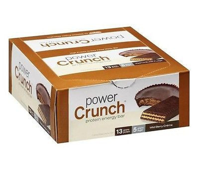 Power Crunch Original HIGH PROTEIN WAFER ENERGY BAR  12 Bars/Box 6 Flavors