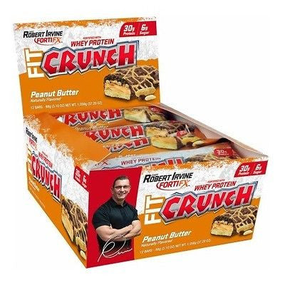 FortiFX FIT CRUNCH BARS by Chef Robert Irvine Whey Protein BOX OF 12 BAKED BARS