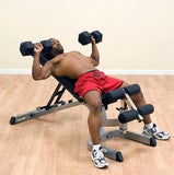 Body Solid Heavy Duty Commercial Flat Incline Decline FID WEIGHT BENCH GFID71