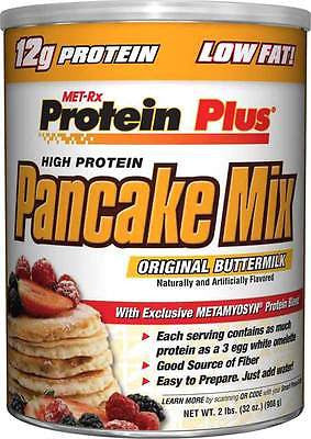 Met Rx Protein Plus PANCAKE MIX Buttermilk Low Fat 12g Protein 2 lbs Met-Rx