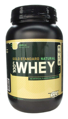 Optimum Nutrition 100% Gold Standard NATURAL Whey Protein 28 Servings 1.9 lb