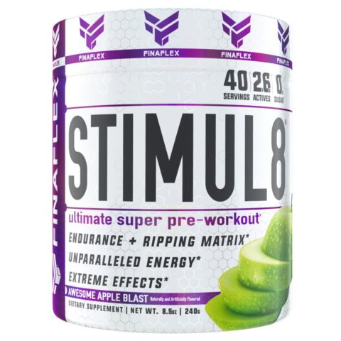 FinaFlex STIMUL8 Pre-Workout ENERGY FOCUS Burn Fat, Build Muscle - 40 Servings
